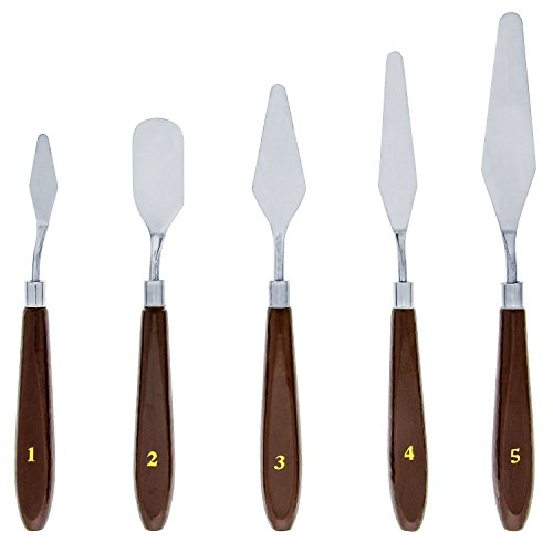 US Art Supply 5 Piece Palette Knife Set