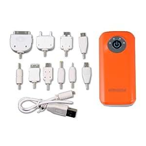 5600mAh Power Bank Portable Battery (Orange) for HTC ONE X/ XL ONE V One X ,Motorola V3 series