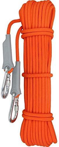 クライミングロープ、10、20、30メートル、屋外サバイバル安全ロープ火災避難救助ロープ、ヘビーデューティ安全と耐久性のあるロープ、直径9.5 mm。,10M