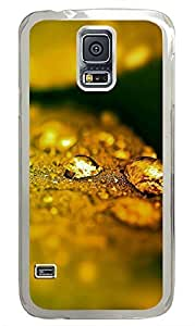 Samsung Galaxy S5 Yellow Droplets PC Custom Samsung Galaxy S5 Case Cover Transparent