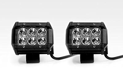 "Original Avec Products (R) 2 x 18w Cree work lights led flood light lamps pods 3"" bottom mount Ultra 7,000k"