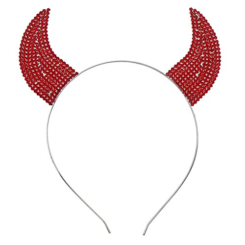 Rosemarie Collections Halloween Costume Red Devil Horns Headband