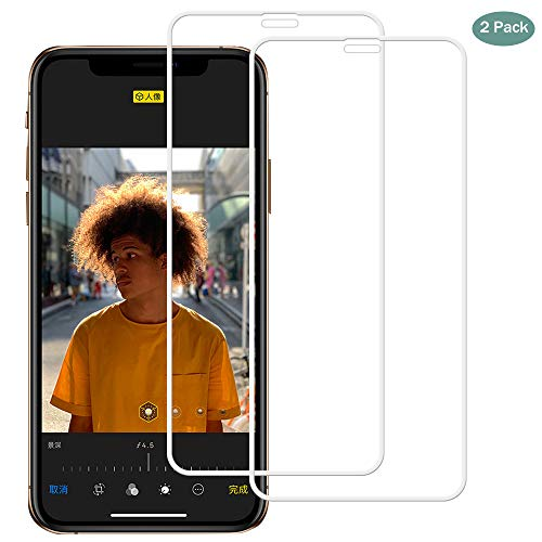 - iPhone XR Screen Protector [Clear, 2 Packs], Premium Quality 5D Curved Surface Scratch Free, Anti Fingerprint, Explosion Proof Cold Sculpture Layer Apple iPhone XR-White