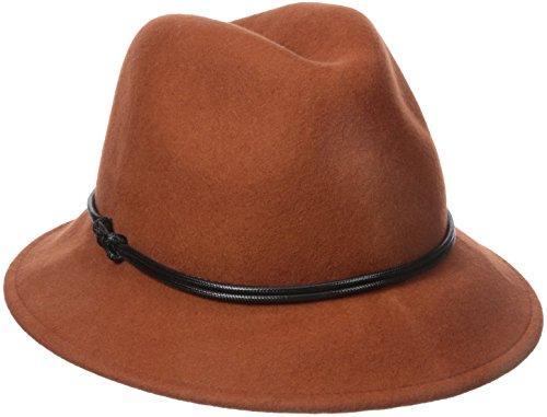 Goorin Bros. Women's Sofia Wool Felt Fedora Hat, Orange, Large