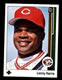 #10: 1989 Upper Deck # 781 Lenny Harris Cincinnati Reds (Baseball Card) Dean's Cards 8 - NM/MT Reds