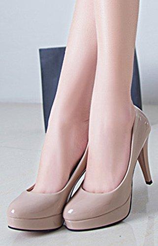 Stiletto En Abricot Escarpins Femme Aisun Plateforme Sexy Vernis 7wTEPf