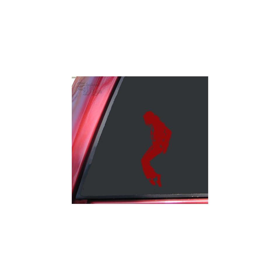 Michael Jackson Silhouette Vinyl Decal Sticker   Dark Red