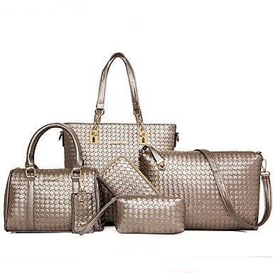 La donna pu canna borsa a tracolla / Tote - Viola / oro / argento / grigio / nero,rosso Gray