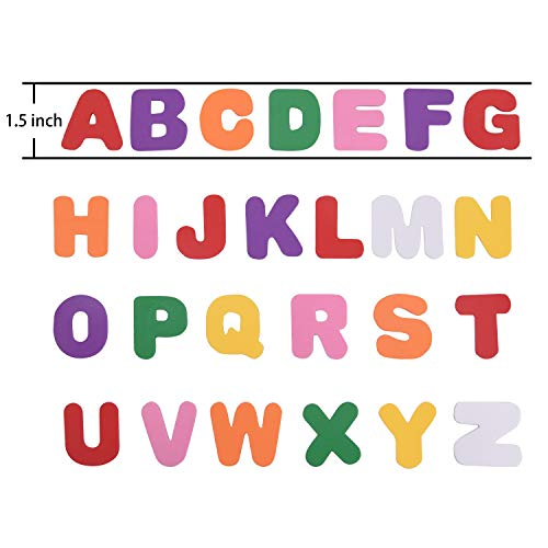 Room Decoration Livder 200 Pieces EVA Self Adhesive Foam Letter Alphabet Stickers for Childrens DIY Crafts