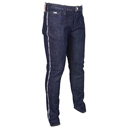 Homme Armani Emporio Bleu Délavé Jeans Noir EEaCwnqr6
