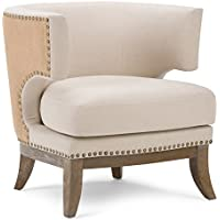 Simpli Home Hoffman Accent Chair, Natural