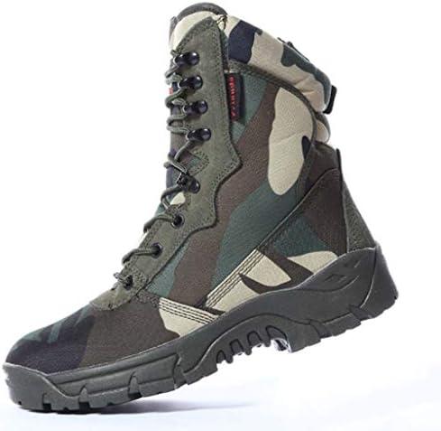 軍事戦術ブーツオックスフォードスキン本革は、快適な滑り止めのラバーソールを耐摩耗暖かいハイヘルプレースアップをしてください (色 : 緑, サイズ : 26 CM)