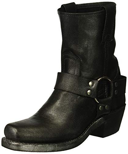 FRYE Women's Harness 8R Mid Calf Boot Black/Multi 11 M US