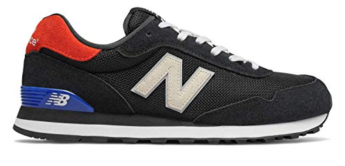 Cheap Men Sneakers - New Balance Men's 515v1 Sneaker, Black/Energy RED, 10 M US