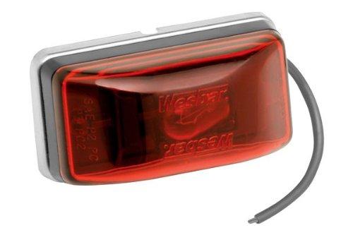 Fulton Side Marker//Clearance Waterproof Red Light with Black Stud Mount