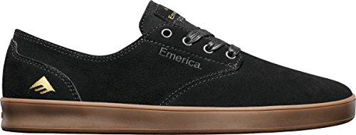 Black Gum (Emerica Men's The Romero Laced Skateboarding Shoe,Black/Gum,10 M US)
