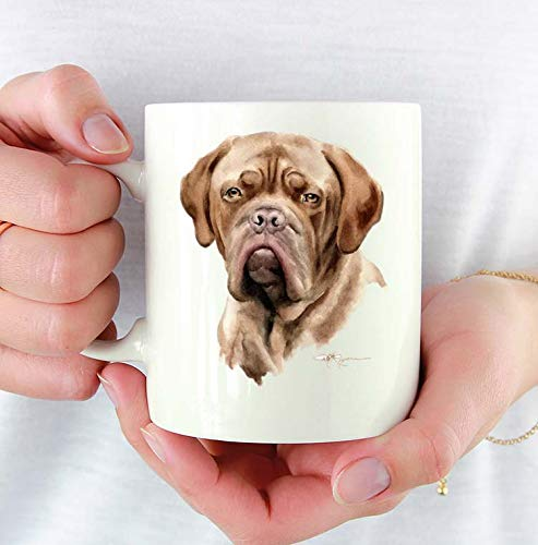 m 11oz Mug With Dog Art Featuring Watercolor Painting by Artist DJ Rogers ()