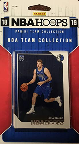 Basketball Set Team Card (Dallas Mavericks 2018 2019 Hoops Factory Sealed 10 Card Team Set with Dirk Nowitzki and Rookie Cards of Jalen Brunson and Luka Doncic Plus)