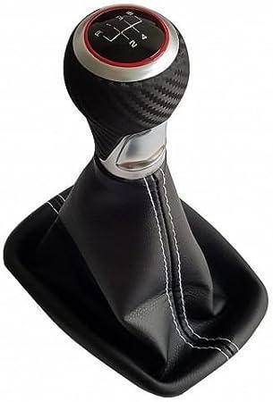 Cbt Schaltsack 3d Carbon Schaltknauf Ring Rot Naht Weiß C 2r Auto