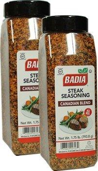 Badia Steak Seasoning 1.75 lbs Pack of 2 by Badia