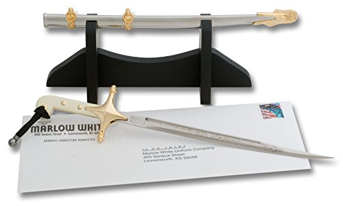 USMC Officer mini-sword Letter Opener by Marlow White Uniforms