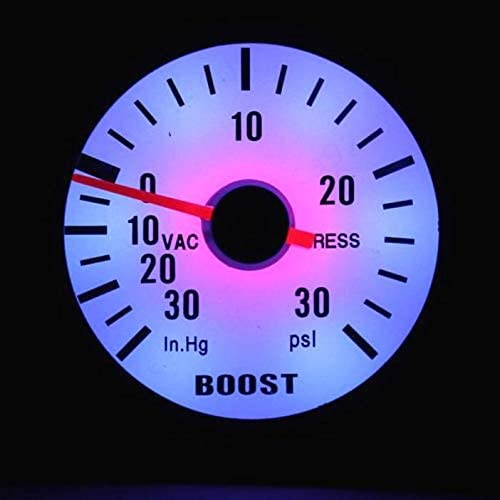 Coche Turbo Boost Gauge Car 252mm Vac/ío de presi/ón Turbo Boost Pointer Gauge Blue Light