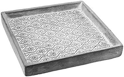 Paris Prix – Plato para macetero Cuadrado 3D 18 cm Gris: Amazon.es ...