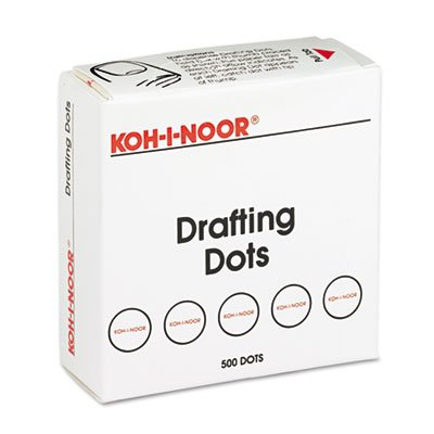 Adhesive Drafting Dots w/Dispenser, 7/8in dia, White, 500/Box, Sold as 500 Each