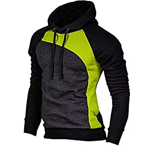 Mooncolour Men's Casual Pullover Long Sleeve Hoodies Outwear,Type Xh,US X-Large
