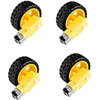 Robocraze Dual shaft bo motor with wheel 4pcs.