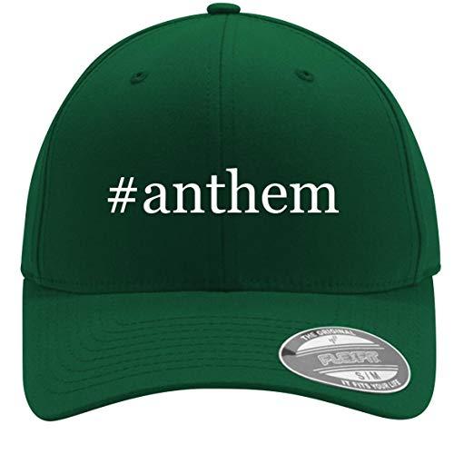(#Anthem - Adult Men's Hashtag Flexfit Baseball Hat Cap, Forest, Small/Medium)