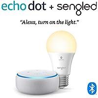 Deals on Echo Dot (3rd Gen) Smart Speaker + Sengled Bulb