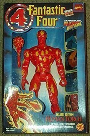 Human Torch Fantastic Four Deluxe Action Figure by Fantastic 4 by Fantastic 4