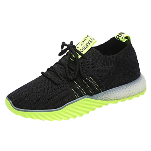 Shusuen Women's Running Lightweight Breathable Casual Sports Shoes Fashion Sneakers Walking Shoes Green