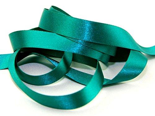 10mm Berisford Double Faced Satin Ribbon 68 Jade - per metre (Ribbon Jade Satin)