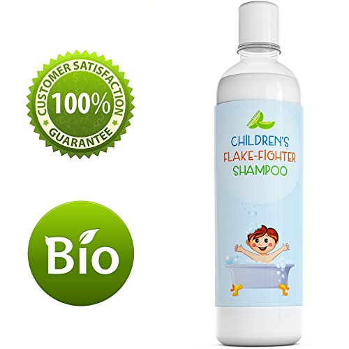 Best Anti Dandruff Shampoo For Kids - All-Natural Gentle Tear Free Kid's Shampoo for Dandruff - Itchy Scalp Treatment for Children with Tea Tree Lavender & Jojoba- Sulfate Free for All Ages- 8 Oz (Gentle Tear)