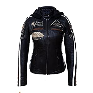Urban Leather 58 Veste de Moto avec Protections – Femme