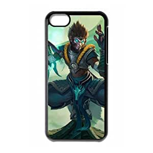 iPhone 5c Cell Phone Case Black League of Legends Jade Dragon Wukong VB6023682