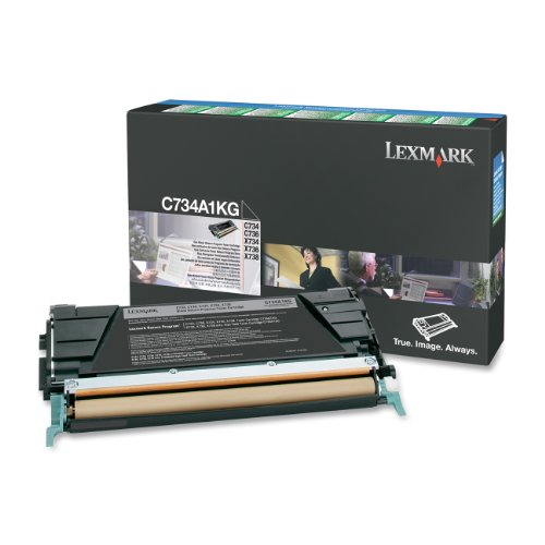 Lexmark C734A1KG Black Toner Cartridge by Lexmark