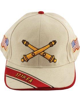 17 Field Artillery Branch of Service Cap (Stone) (Field Artillery Branch)