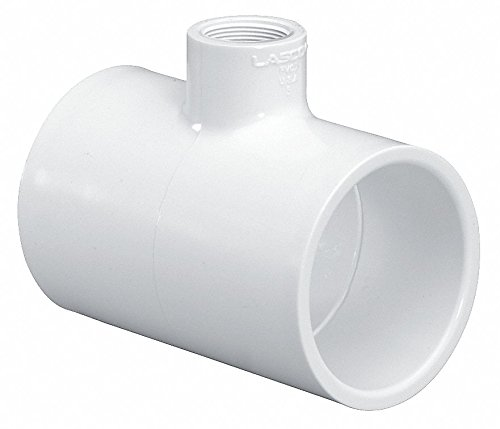 1/2 Pvc Reducer - LASCO PVC Reducer Tee, Socket x Socket x FNPT, 1-1/4