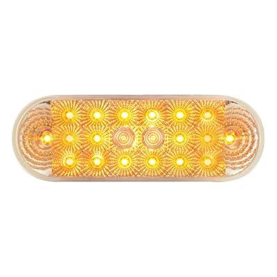 Grand General 77051 Amber Oval Low Profile Spyder 20-LED Sealed Park/Turn/Clearance Light: Automotive