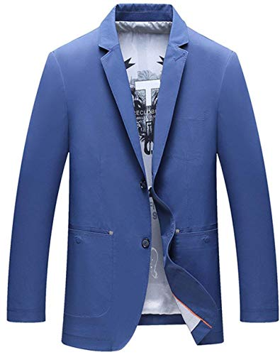 Ntel Abito Sportiva Hellblau Da Fit Blazer Leisure Good Uomo Business Giacca Sposa Mieuid Button Suit Men's Prom Slim Chic Smoking Giacche 1 nwqYUn7f