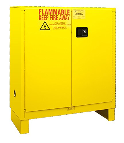 Durham 1030ML-50 Flammable Safety Cabinet with 2 Manual Door and Legs, 43