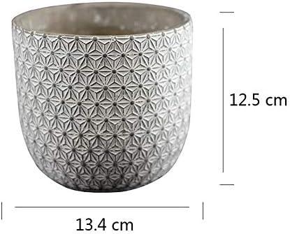 Molde de silicona para jarr/ón de cemento herramienta de decoraci/ón de escritorio para hormig/ón barril maceta bol/ígrafo