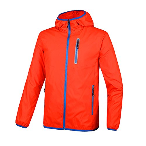 Unisex Outdoor Cycling Hiking Anti UPF Soft Shell Jacket Water Proof Light Hooded Rain Coat Sportswear