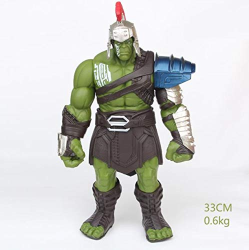 ALANAST Hulk Action Figure 15 inch Marvel Thor 3 Ragnarok Hands Moveable War Hammer PVC -