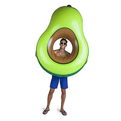 BigMouth Inc Giant Inflatable Avocado Pool Float, Durable Fun Pool Tube with Patch Kit Included: Toys & Games