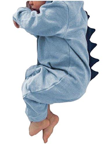 Sodossny Simpatico Hoodie Dinosauro Luce Ragazzi Neonate au Lunga Pezzo Tuta Un Blu Manica tdFqtgBnOw