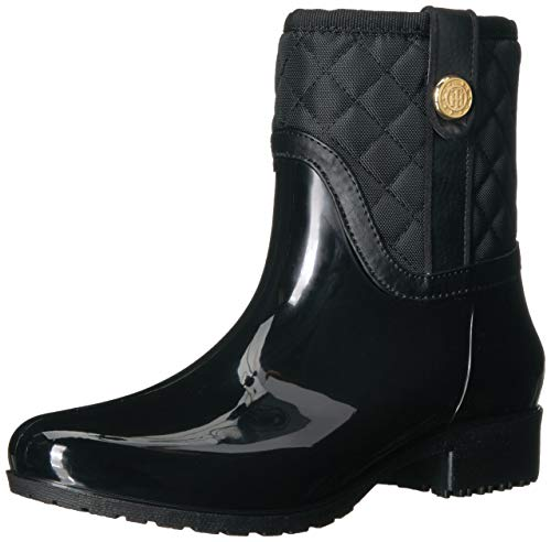 Tommy Hilfiger Women's FREZA Rain Boot, Black, 8 M US